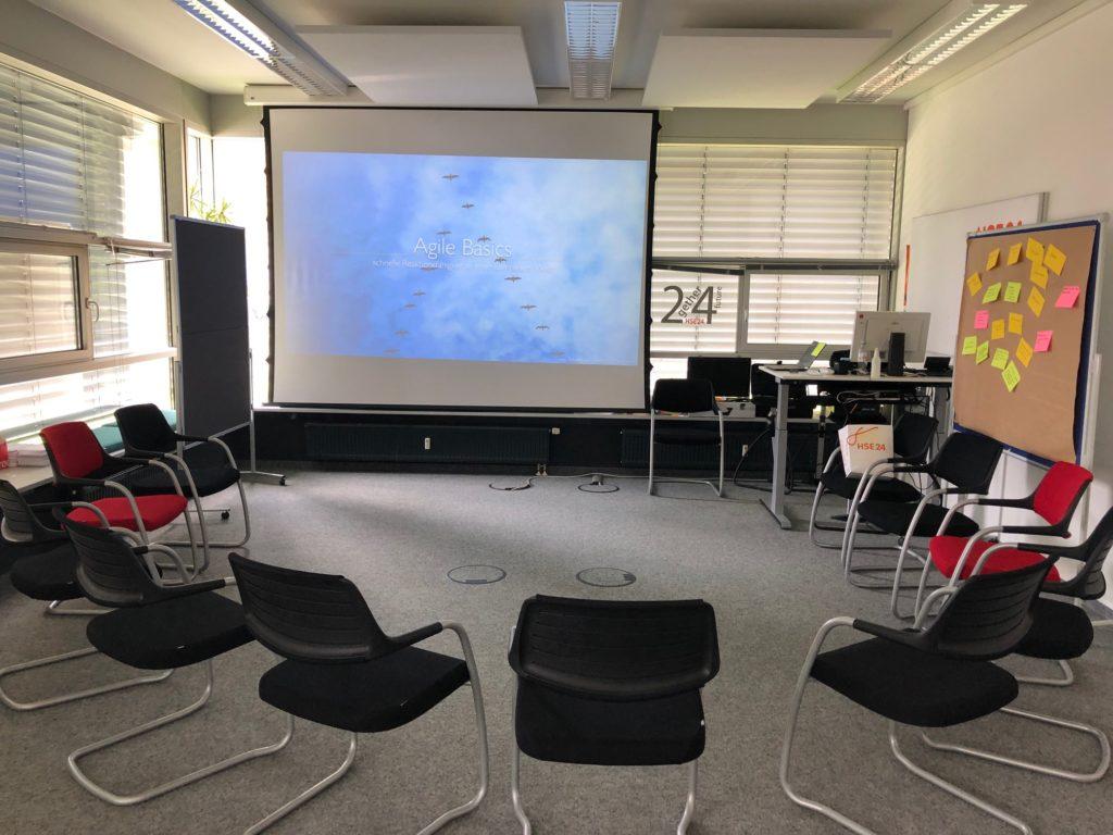 Alles bereit für das Agile Basic Seminar bei HSE24