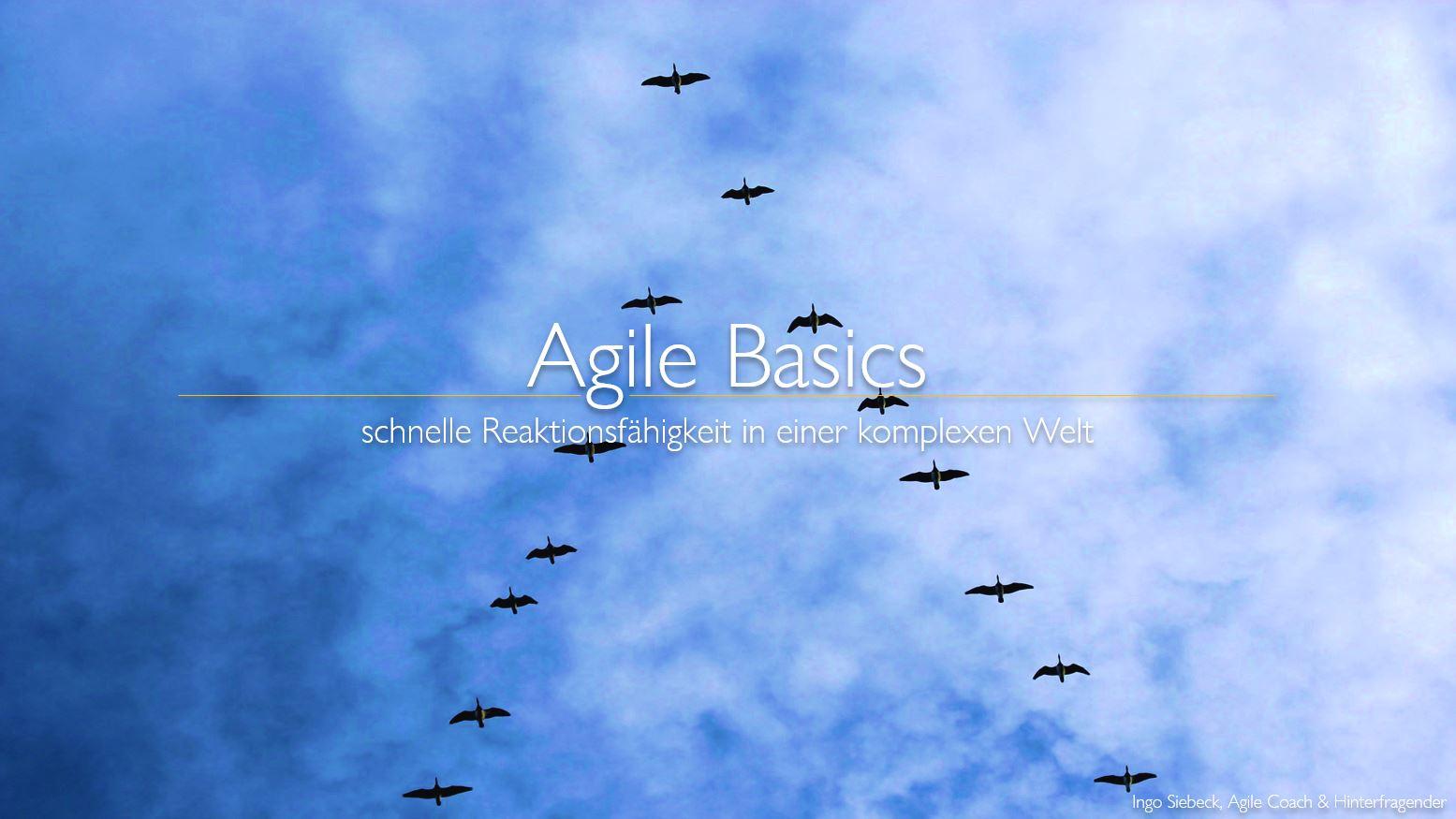 Agile Basics Seminar Ingo Siebeck